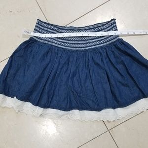 Wet Seal Cotton Skirt with lace trim